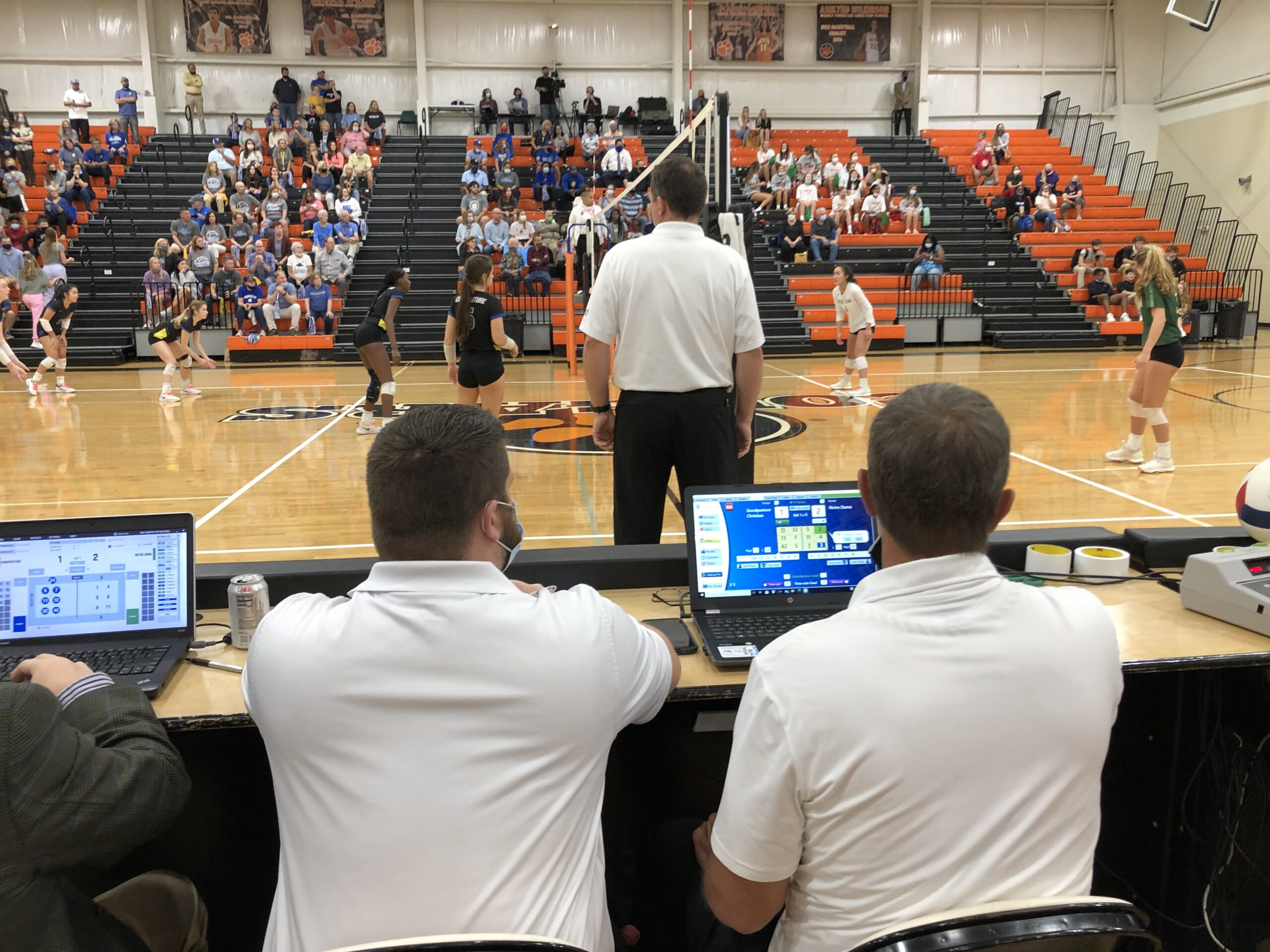 Shows VolleyWrite scorer at the TSSAA State Volleyball DI Finals
