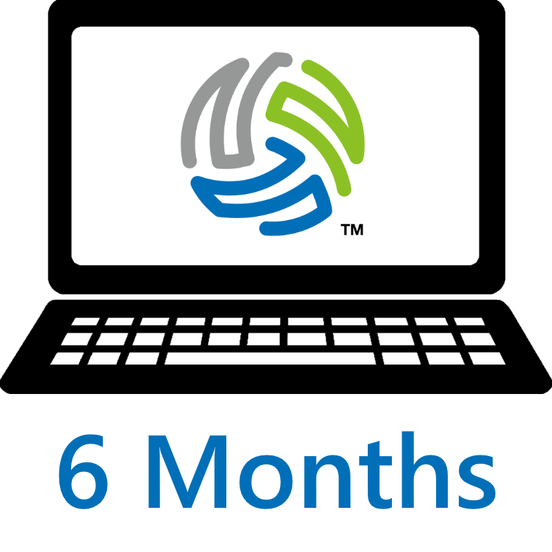 icon representing a six month license to use VolleyWrite