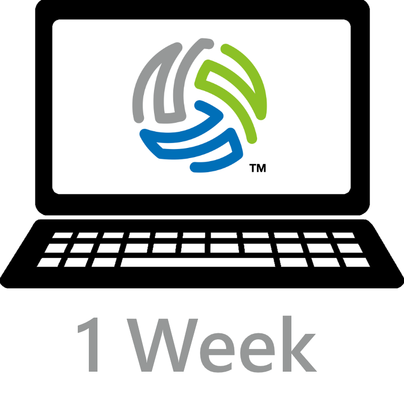 icon representing a one week license to use VolleyWrite